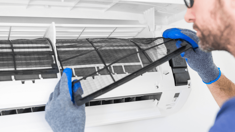 Limpiar filtro del aire acondicionado